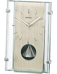 セイコー クロック 置き時計 電波 アナログ 回転飾り 薄緑 BY240M SEIKO