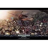 明日晴れg028Warhammerゲームポスターアート壁リビングルーム用キャンバスファブリック布印刷