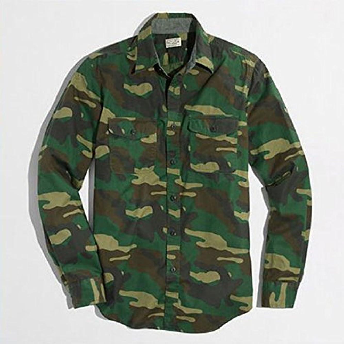 そしてとは異なり殉教者[ジェイクルー] J.CREW 正規品 メンズ 長袖シャツ CAMP SHIRT IN CAMO 並行輸入品 (コード:4075753855)