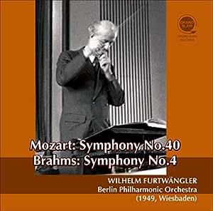 モーツァルト : 交響曲 第40番 | ブラームス : 交響曲 第4番 (Mozart : Symphony No.40 | Brahms : Symphony No.4 / Wilhelm Furtwangle | Berlin Philharmonic Orchestra (1949, Wiesbaden)) [CD] [国内プレス] [日本語帯・解説付]