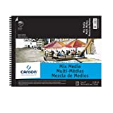 フィラ Canson C200006188 14 in. x 17 in. Artist Series Mixed Media Wire Bound Pad - 20 Sheet by CANSON/FILA CO