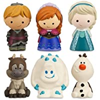Disney Frozen 6 Pc. Bath Tub Pool Toy Set Olaf Elsa Anna Sven Kristoff Marshmallow [並行輸入品]