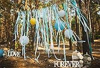 CSFOTO 8 x 6 インチ 背景 ロビンペーパー ポンポン ウェディングパーティー 木製の写真 背景 ホワイト 鳥かご 愛 永遠の晴れる グルーブ バレンタインデー ロマンチック お祝い フォトスタジオ 小道具 ビニール 壁紙