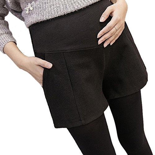 [해외]Spinas (스삐나스) 출산 반바지 커지는 배를 부드럽게 감싸고 있습니다 리브 치마 바지 출산 바지 임산부 산전 블랙 라이트 그레이 다크 그레이 M ~ XXL/Spinas (spinas) Maternity shorts gently wrap the belly gently Rib culottes maternity pan...