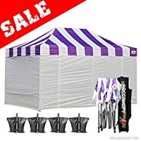 Big Abccanopy Carnival Purple 10 X 15 Ez Pop up Canopy Tent Commercial Instant Gazebos with 6 Removable White Sidewalls and Roller Bag and 4x Weight Bag [並行輸入品]