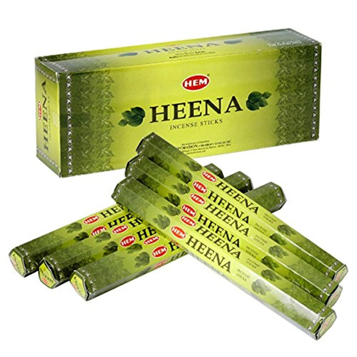 記者科学者不振HEM(ヘム) ヘナ HEENA スティックタイプ お香 6筒 セット [並行輸入品]