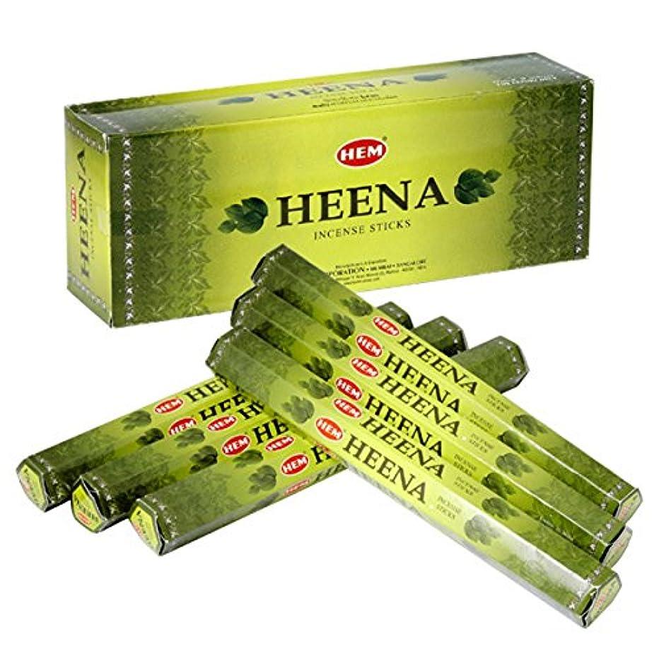 談話影響する残基HEM(ヘム) ヘナ HEENA スティックタイプ お香 6筒 セット [並行輸入品]