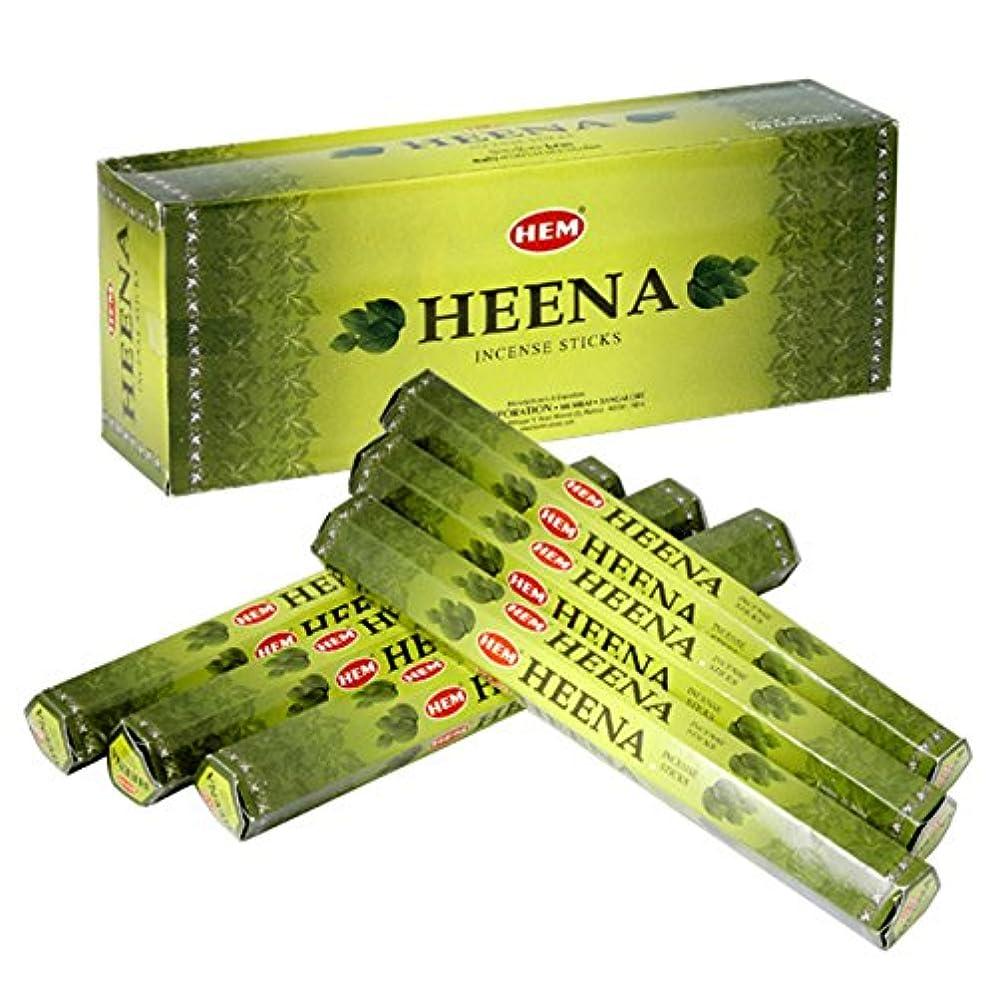 葉を集める一般的な従順なHEM(ヘム) ヘナ HEENA スティックタイプ お香 6筒 セット [並行輸入品]