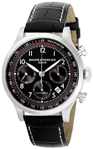 [ボーム&メルシエ]BAUME & MERCIER 腕時計 CAPELAND ブラック文字盤 自動巻 裏蓋スケルトン クロノグラフ MOA10084 メンズ 【並行輸入品】
