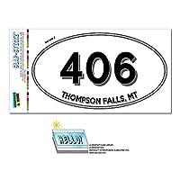 406 - トンプソンの滝, MT - モンタナ - 楕円形市外局番ステッカー