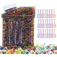 ぷよぷよボール 水ビーズ ウォータビーズ 水ボール ウォータボール 水で膨らむビーズ 観葉植物 パーティー 家庭装飾品(約50000個)20個水風船付き