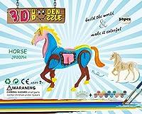 Horseペイントおもちゃ、子供のギフト、Brain Teaserパズルジグソーパズル子供、大人用、子供DIYモデル、木製パズル。