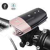 ATARAXIA 自転車ライト 1200ルーメン 2000mah USB充電式 ヘッドライト IP65防水 テールライト付き Pink
