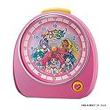 リズム時計工業(Rhythm) 置き時計 ピンク 13.2x13.7x8.4cm 目覚まし時計 スター☆トゥインクル プリキュア 4ZM606AY13