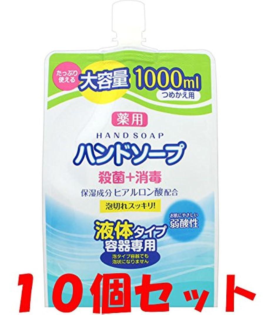 カウントアップレール戻す【10個セット】薬用 液体ハンドソープ 詰替 1000ml