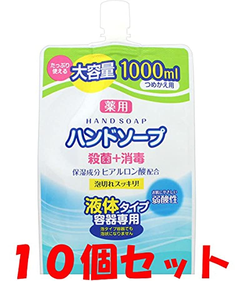 動的書き出すリファイン【10個セット】薬用 液体ハンドソープ 詰替 1000ml