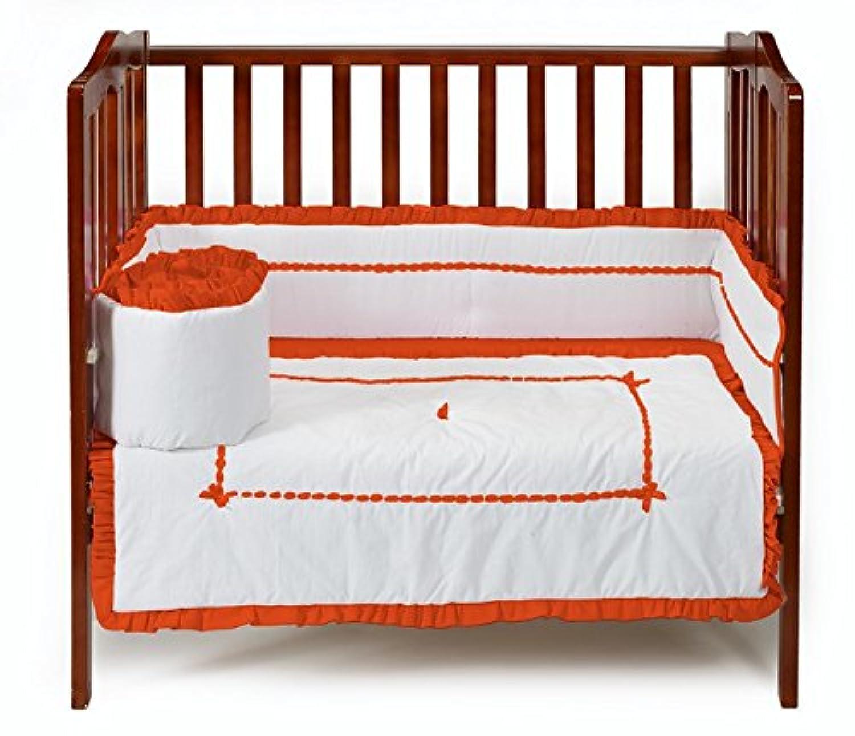 ベビードール寝具ユニークなミニベビーベッド/ポート-ベビーベッド寝具セット、オレンジ