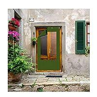 CAIJUN ドアカーテン カスタマイズ可能な 冬 透明ウィンドウ 充填スポンジ 暖かく保つ フロントガラス 防水、 22サイズ (色 : Green, サイズ さいず : 130x200cm)