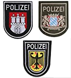 3枚セット ドイツ ポリス POLIZEI ベルクロ ワッペン ミリタリー パッチ 特殊部隊 GSG-9 レインボーシックスシージ