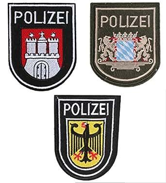 3枚セット ドイツ ポリス POLIZEI ベルクロ ワッペン ミリタリー パッチ 特殊部隊 GSG-9 レインボーシックスシージ A0100