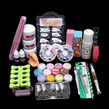 Acryic Powder Nail Art Decorations Kit Brush Cuticle Revitalizer Oil Pen Tools Nail Tips Glue 3D Mold Set