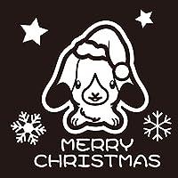 デザイン工房SIGNS クリスマスステッカー ロップ 1 うさぎ デザイン CAR ウインドー ステッカー ホワイト