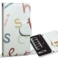 スマコレ ploom TECH プルームテック 専用 レザーケース 手帳型 タバコ ケース カバー 合皮 ケース カバー 収納 プルームケース デザイン 革 その他 英語 ドット カラフル 005178
