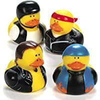 Dozen Biker Rubber Ducks by Fun Express [並行輸入品]