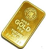徳力 ゴールドバー 50g インゴット 日本製50gの純金 24金 Gold Bar K24 tokuriki (¥ 285,000)