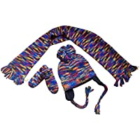 N'Ice Caps Infants Unisex Multi Color Knitted Hat/Scarf/Mitten Set