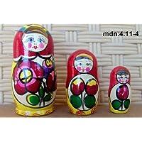 Russian Nesting Doll (Maidan) * 3 Pcs / 4 in * mdn-3.4.11-4