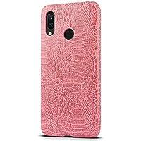 Huawei Nova 3ケース 【SLEO】Huawei Nova 3レザー 軽量 スマホケース レンズ保護 復古調 本革 Huawei Nova 3カバー 薄型 保護カバー(ピンク)
