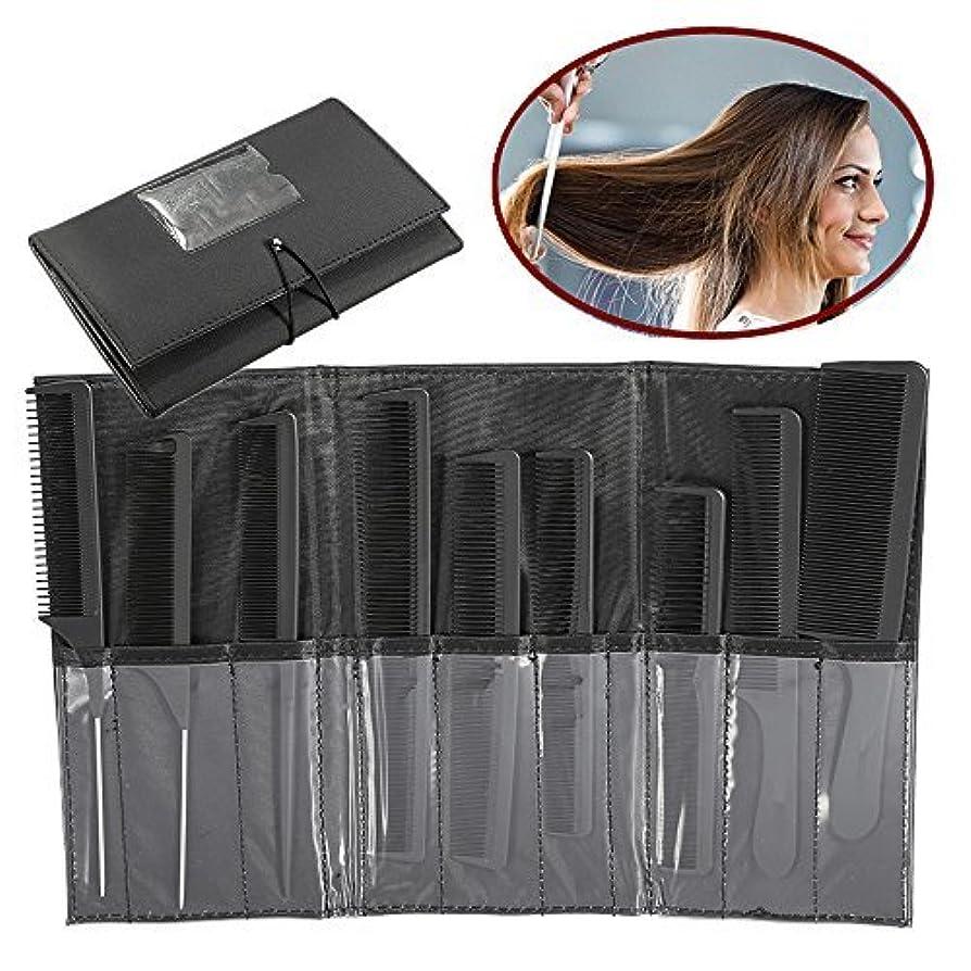 試験ホラーいちゃつくZJchao Professional Styling Comb Set, 9Pcs Salon Hairdressing Kits, Metal Pintail Teaser/Sharp Tail/Wide Tooth...