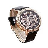 Michelle Noel (ブラック) グルグル時計 文字盤が回る くるくる時計 ぐるぐる時計 ゴールドフェイス ビッグフェイスデザイン ウォッチ 腕時計 AROUND-WATCH