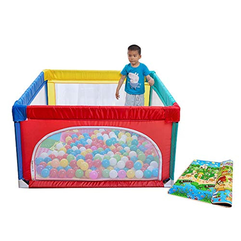 マットレス付き折りたたみ式遊び場安全幼児用ドアの開閉幼児ぬいぐるみ遊び場のない遊び場 (サイズ さいず : 120×120cm)