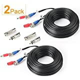 SHD 2Pack 33Feet BNC Vedio Power Cable Pre-Made Al-in-One Camera Video BNC Cable Wire Cord for Surveillance CCTV Security Sys