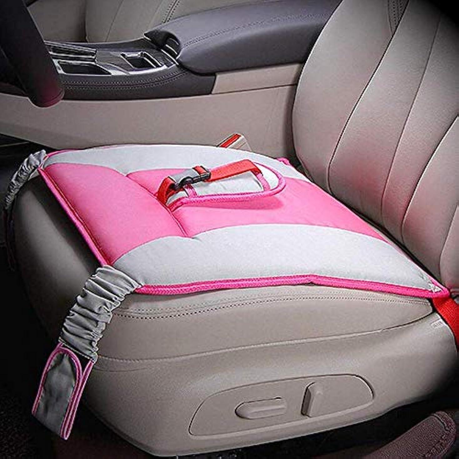 一族散文経度LYX 妊娠中の女性のための特別な車のシートベルト、胎児通気性と調整可能な妊婦安全運転車のシートベルトのソフトクッションパッド保護ストラップを守ります (Color : ピンク)