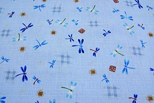 男の子甚平 水色 130cm 140cm 150cm トンボ柄 生地縫製日本製 仕立上がり品 (150cm)
