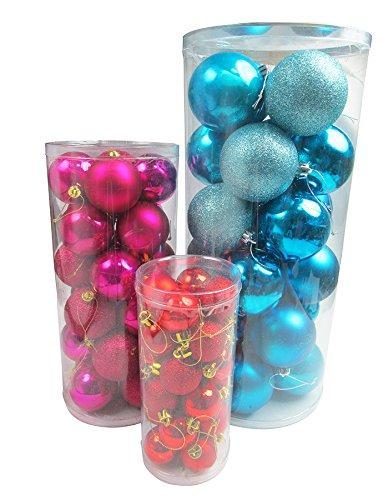 R-STYLE 豪華に装飾 クリスマス ツリー 飾り ボール オーナメント 24個 選べるサイズ&カラーセット (8cm シルバー)