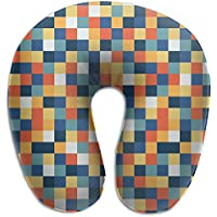 Merlin Quintina 格子 抱き枕 U字型クッション 首枕 ネッククッション 旅行ピロー360度快適な睡眠 子宮頸椎 保護 ポータブル