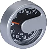リヒター【サーモメーター】メータータイプの車載温度計(シルバー)ドイツ製