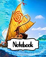 Notebook: Te Fiti's Island Adventure Moana And The Mighty Maui A Tale of Courage Legendary Demigod , Writing Workbook for Teens & Children, Man, Woman Paper • 110 Pages Kids Adults Paper 7.5 x 9.25 Inches