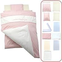 「 日本製 」 ベビー布団 セット レギュラーサイズ 11点 セット 高級綿毛布がセットになったかわいいデザイン   キャッスル?ピンク