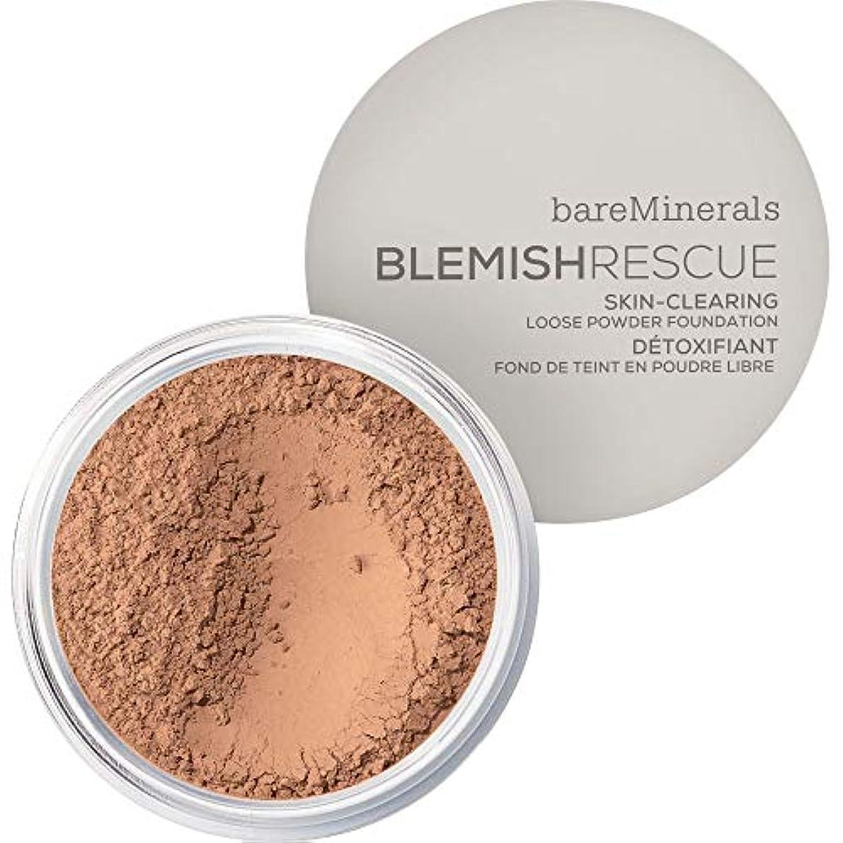 振動させるドロップ書き込み[bareMinerals] ベアミネラルは、レスキュースキンクリア緩いパウダーファンデーション6グラムの3.5Cnを傷 - 日焼けメディア - bareMinerals Blemish Rescue Skin-Clearing Loose Powder Foundation 6g 3.5CN - Medium Tan [並行輸入品]