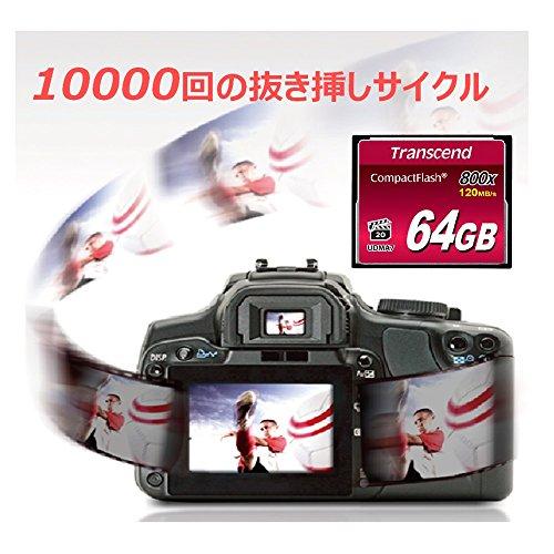 800倍速CFカード 64GB TS64GCF800