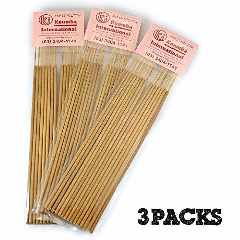 規制繁栄するシャーロックホームズKuumba   クンバ お香   Regular size   3パックセット   PARIS HILTON