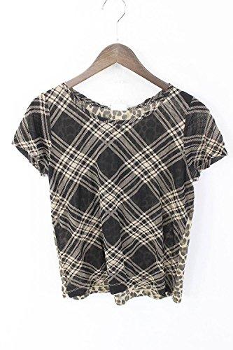 (ドリスヴァンノッテン)DRIES VAN NOTEN 総柄切り替えデザインTシャツ(S/ブラウン) 中古
