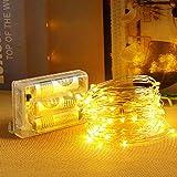 LED イルミネーションライト 電池式 ストリングライト led クリスマス led ライト 飾りライト フェアリーライト コンセント不要 携帯便利 アウトドア 室内 室外 結婚式 パーティー 庭 など適用 (10m100LED暖色)