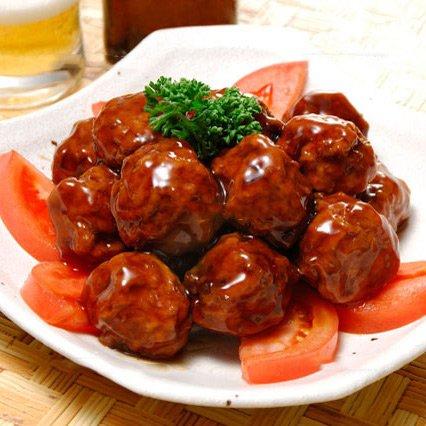 徳用!メガ盛りタレ付き肉だんご1kg 《*冷凍便》