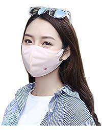 Littleliving フェイスカバー UVカット 全4色 UPF 40+ 花粉 対策 日焼け防止 UVガード マスク (耳かけヒモ付き)